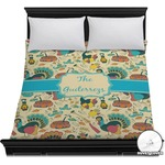 Old Fashioned Thanksgiving Duvet Cover (Personalized)
