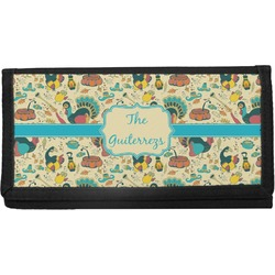 Old Fashioned Thanksgiving Canvas Checkbook Cover (Personalized)