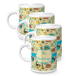 Old Fashioned Thanksgiving Espresso Mugs - Set of 4 (Personalized)