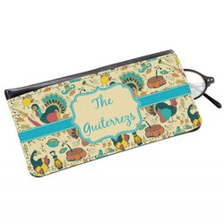 Old Fashioned Thanksgiving Genuine Leather Eyeglass Case (Personalized)