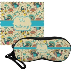 Old Fashioned Thanksgiving Eyeglass Case & Cloth (Personalized)