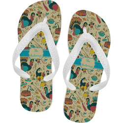 Old Fashioned Thanksgiving Flip Flops (Personalized)