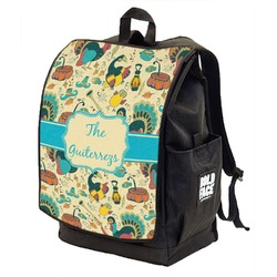 Old Fashioned Thanksgiving Backpack w/ Front Flap  (Personalized)