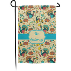Old Fashioned Thanksgiving Garden Flag - Single or Double Sided (Personalized)