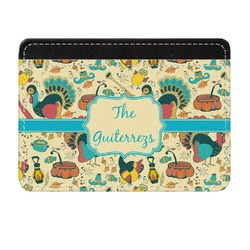 Old Fashioned Thanksgiving Genuine Leather Front Pocket Wallet (Personalized)