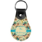 Old Fashioned Thanksgiving Genuine Leather  Keychain (Personalized)