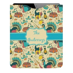 Old Fashioned Thanksgiving Genuine Leather iPad Sleeve (Personalized)