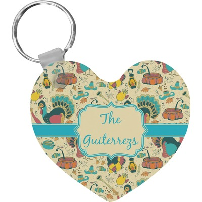Old Fashioned Thanksgiving Heart Keychain (Personalized)