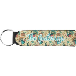 Old Fashioned Thanksgiving Neoprene Keychain Fob (Personalized)