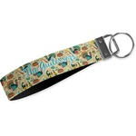 Old Fashioned Thanksgiving Wristlet Webbing Keychain Fob (Personalized)