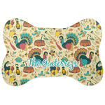 Old Fashioned Thanksgiving Bone Shaped Dog Food Mat (Personalized)