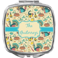 Old Fashioned Thanksgiving Compact Makeup Mirror (Personalized)