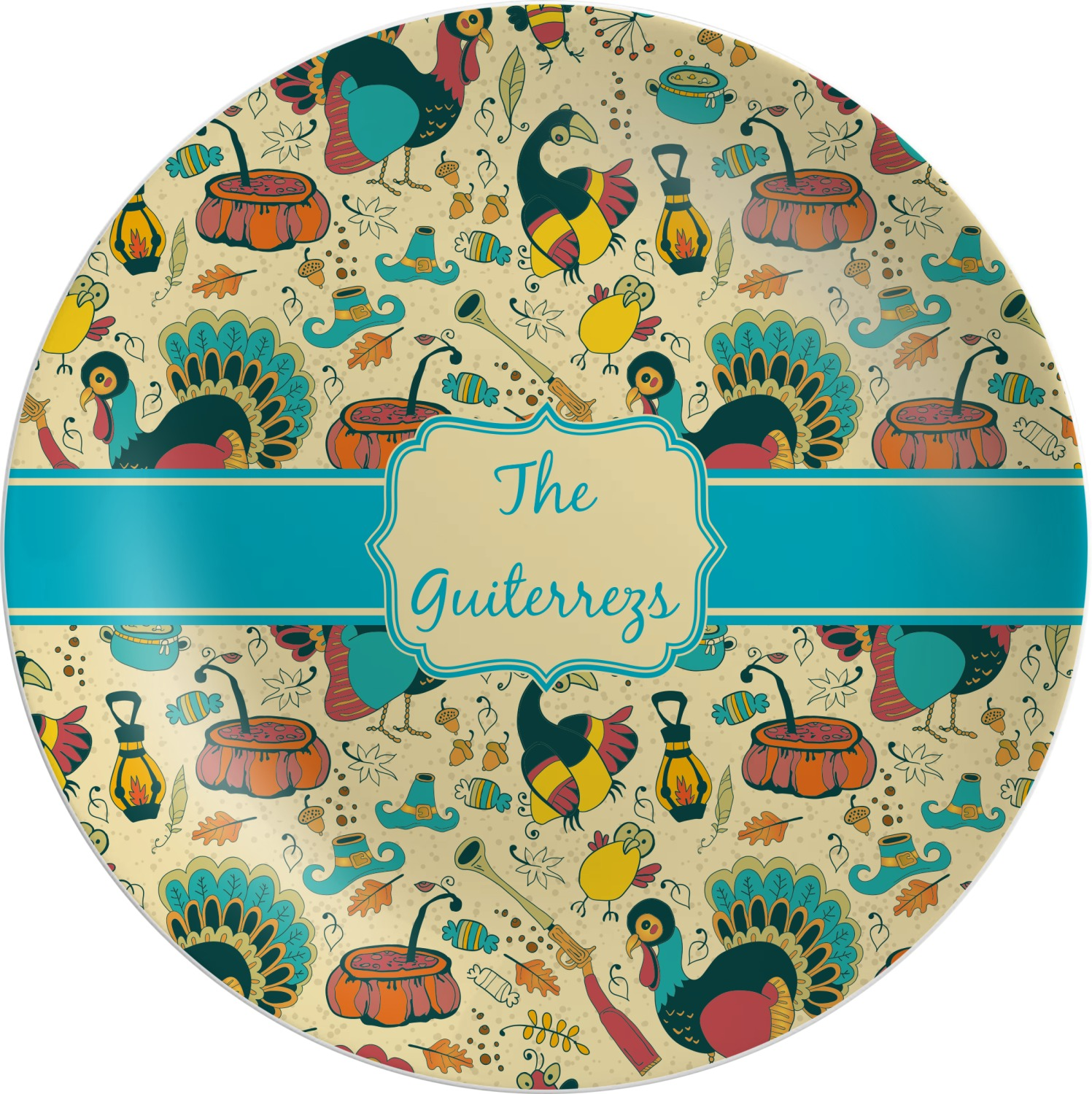 ... Old Fashioned Thanksgiving Melamine Plate (Personalized) ...