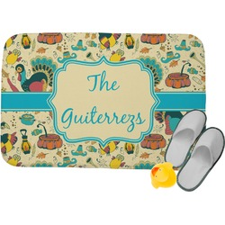 Old Fashioned Thanksgiving Memory Foam Bath Mat (Personalized)