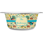 Old Fashioned Thanksgiving Stainless Steel Dog Bowl (Personalized)
