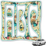 Old Fashioned Thanksgiving Monogram Car Decal (Personalized)
