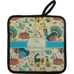 Old Fashioned Thanksgiving Pot Holder (Personalized)