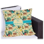 Old Fashioned Thanksgiving Outdoor Pillow (Personalized)