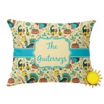 Old Fashioned Thanksgiving Outdoor Throw Pillow (Rectangular) (Personalized)