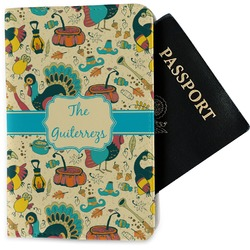 Old Fashioned Thanksgiving Passport Holder - Fabric (Personalized)