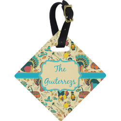 Old Fashioned Thanksgiving Diamond Luggage Tag (Personalized)
