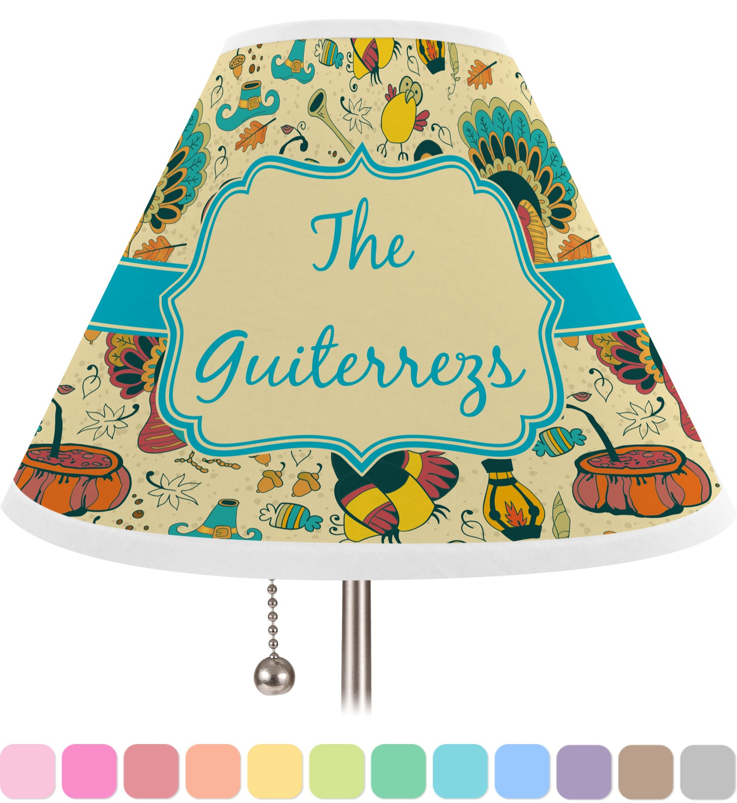 old fashioned thanksgiving lamp shade large personalized you. Black Bedroom Furniture Sets. Home Design Ideas