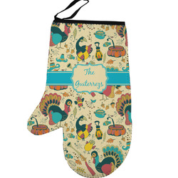 Old Fashioned Thanksgiving Left Oven Mitt (Personalized)