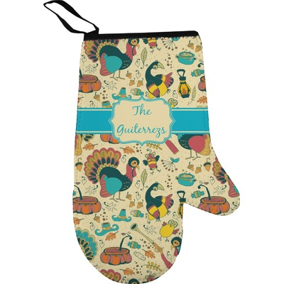 Old Fashioned Thanksgiving Oven Mitt (Personalized)