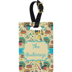 Old Fashioned Thanksgiving Rectangular Luggage Tag (Personalized)