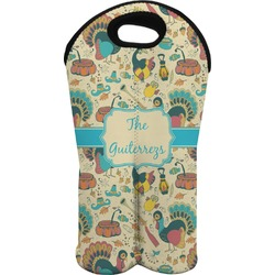 Old Fashioned Thanksgiving Wine Tote Bag (2 Bottles) (Personalized)