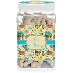 Old Fashioned Thanksgiving Pet Treat Jar (Personalized)
