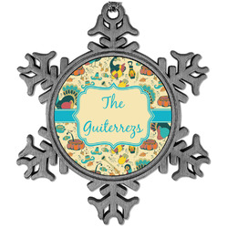 Old Fashioned Thanksgiving Vintage Snowflake Ornament (Personalized)