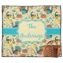 Old Fashioned Thanksgiving Outdoor Picnic Blanket (Personalized)