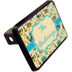 """Old Fashioned Thanksgiving Rectangular Trailer Hitch Cover - 2"""" (Personalized)"""