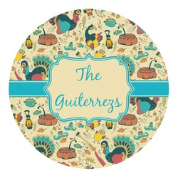 Old Fashioned Thanksgiving Round Decal - Medium (Personalized)
