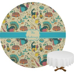 Old Fashioned Thanksgiving Round Tablecloth (Personalized)