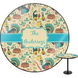 Old Fashioned Thanksgiving Round Table (Personalized)