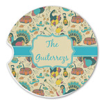 Old Fashioned Thanksgiving Sandstone Car Coasters (Personalized)