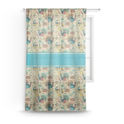 Old Fashioned Thanksgiving Sheer Curtains (Personalized)