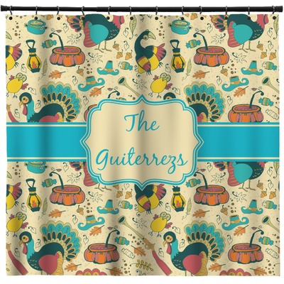 Old Fashioned Thanksgiving Shower Curtain (Personalized)