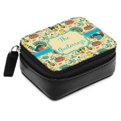 Old Fashioned Thanksgiving Small Leatherette Travel Pill Case (Personalized)