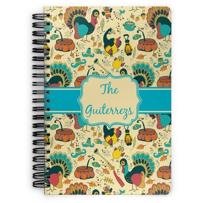 Old Fashioned Thanksgiving Spiral Notebook (Personalized)