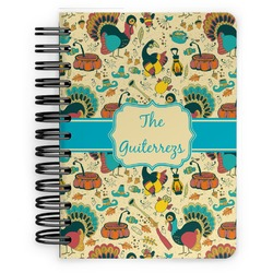 Old Fashioned Thanksgiving Spiral Bound Notebook - 5x7 (Personalized)
