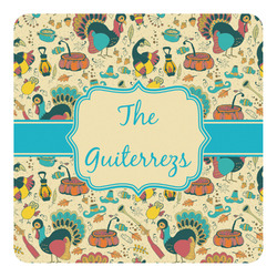 Old Fashioned Thanksgiving Square Decal - Custom Size (Personalized)
