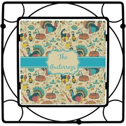 Old Fashioned Thanksgiving Square Trivet (Personalized)