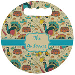 Old Fashioned Thanksgiving Stadium Cushion (Round) (Personalized)