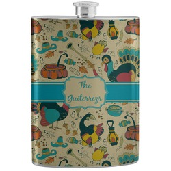 Old Fashioned Thanksgiving Stainless Steel Flask (Personalized)