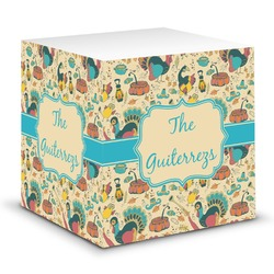 Old Fashioned Thanksgiving Sticky Note Cube (Personalized)
