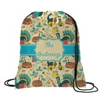 Old Fashioned Thanksgiving Drawstring Backpack (Personalized)