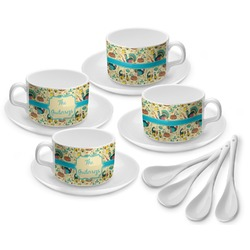 Old Fashioned Thanksgiving Tea Cup - Set of 4 (Personalized)